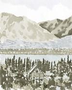 Watercolor Mountain Retreat I