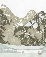 Watercolor Mountain Retreat II