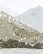 Watercolor Mountain Retreat IV