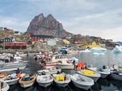 Uummannaq Harbor And Town, Greenland