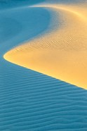 New Mexico, White Sands National Park, Sand Dunes At Sunrise