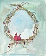 Cardinal Wreath