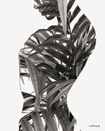 Black & White Palm Leaves Woman
