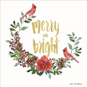 Merry and Bright Wreath with Cardinals