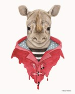 Rhino in a Raincoat