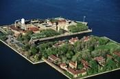New York Ny Aerial Of Ellis Island
