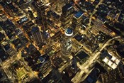 City Lit Up At Night, Los Angeles, California