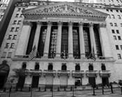 New York Stock Exchange Exerior With US Flags