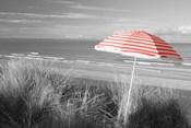 Beach Umbrella On The Beach, Saunton, North Devon, England