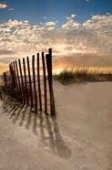 Dune Fence At Sunrise