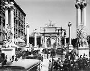 Triumphal Plaster Arch Columns Celebrate Commodore Dewey Manila Victory Spanish American War Madison Square Park NY