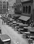 1936 Line Of Angle Parked Cars Downtown Main Street Knoxville Tennessee