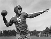 Quarterback About To Toss Football Pass