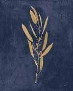 Botanical Study I Gold Navy