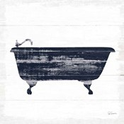 Shiplap Bath I Navy