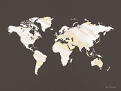 Marble Gold World Map