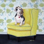 Beagle on Yellow