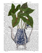 Chinoiserie Vase 4, With Plant Book Print