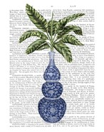 Chinoiserie Vase 7, With Plant Book Print