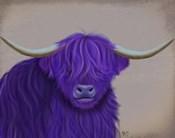Highland Cow 5, Purple, Portrait