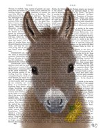 Donkey Yellow Flower Book Print