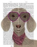 Goat Heart Glasses Book Print