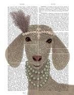 Posh White Goat Book Print