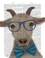 Nerdy Goat Book Print