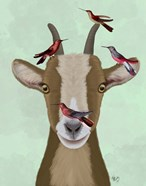 Goat and Red Birds