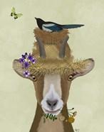 Goat In Straw Hat