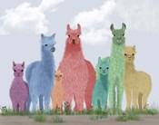 Llama Pastel Family