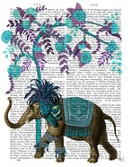 Niraj Elephant, Blue Tree