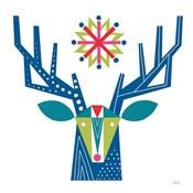 Geometric Holiday Reindeer II Bright