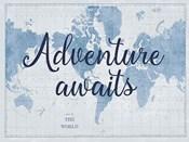World Map White and Blue v2