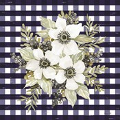 Navy Floral I