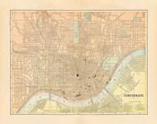 Map of Cincinnati