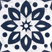 Blue and White Tile I