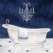 Navy Blue Bath I