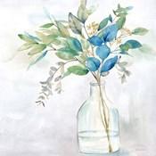 Eucalyptus Vase Navy I