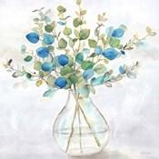 Eucalyptus Vase Navy II