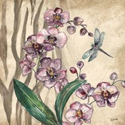 Boho Orchid & Dragonfly I
