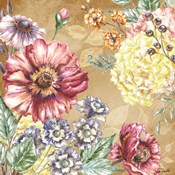 Wildflower Medley Square Gold I