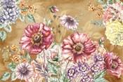 Wildflower Medley Landscape on Rust