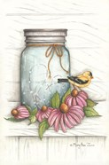 Goldfinch and Flowers