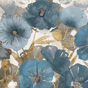 Blue and Gold Poppies I
