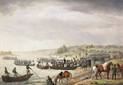Italian Corps of Eugene de Beauharnais Crossing the Niemen on 30 June 1812, (1815)