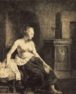 Half-Naked Woman by a Stove, 1658