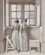 At a Window in the Artist's Studio, 1852