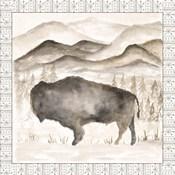 Bison w/ Border