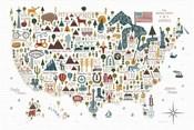 Illustrated USA Warm